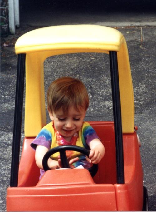 danny in the car