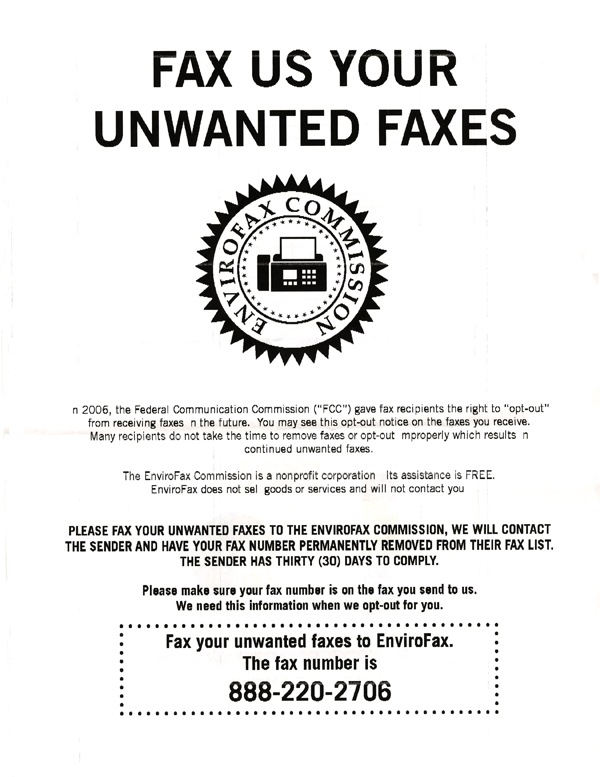 How to Stop Unwanted Faxes